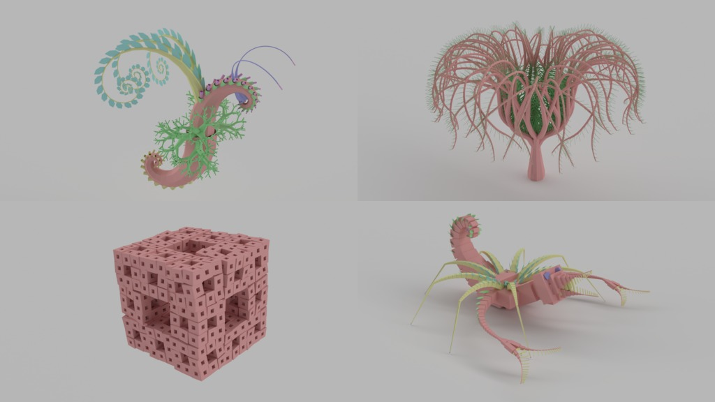 3D L-system examples